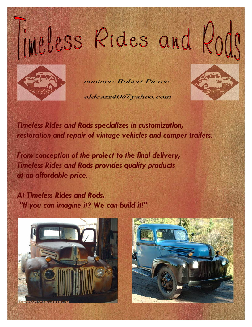 """About Us- """"Timeless Rides and Rods"""" 